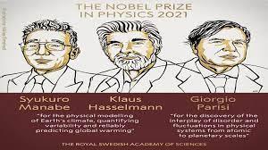 Syukuro Manabe, Klaus Hasselmann, Giorgio Parisi, global warming, climate models